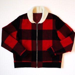 Woolrich Buffalo Plaid Shearling Jacket
